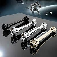 Raitool ™ 8 в 1 12-19mm Серебряный шестигранных торцевых ключей Гаечный ключ бытовой универсальный ручной инструмент