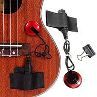 Пьезо контакт пикап микрофон с зажимом ремешок для гитары скрипки укулеле банджо