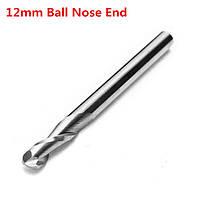 1/8 дюйма конец хвостовика шаровой мельницы нос 2 флейта твердосплавный инструмент 12 мм с ЧПУ для резки