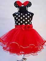 Платье праздничное детское Минни. Размеры от 3 до 10 лет