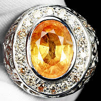 """Шикарный перстень """"Лучистый"""" с желтыми  сапфирами , размер 19,3 студия LadyStyle.Biz, фото 1"""