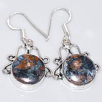 """Серебряные серьги с петерситом  """"Витраж"""", от Студии  www.LadyStyle.Biz, фото 1"""