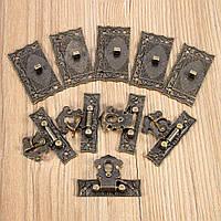 5sets бронза деревянный замок коробки чемодан тумблер защелка пряжки тон 5.1cm x2.9cm