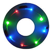 IPRee Glow плавательный кольцо водить Светящиеся надувные Дети Дети Learner Swim Pool Circle