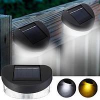 Solar Power 8 Светодиодный свет стены Открытый водонепроницаемый забор лампы IP65 сада