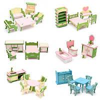 Комплект деревянной мебели Кукла Дом Миниатюрные аксессуары для комнаты Дети Приготовить игру Игрушка Подарочный декор