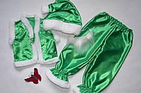 Детский новогодний карнавальный костюм Гнома (зеленый) 3-7 лет
