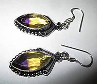 Серебряные серьги с аметрином от LadyStyle.Biz, фото 1