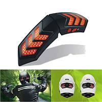 12V Беспроводной Умный мотоциклетный шлем фары W / USB зарядка Casque Тормозной сигнал лампы Водонепроницаемый