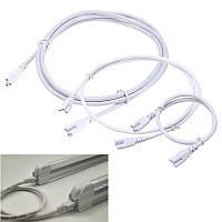 0,5 / 1 / 2M T5 T8 Кабельный разъем провода шнура для Интегрированное Светодиодные люминесцентные лампы Лампочка