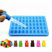 50 Полость Силиконовой Gummy Медведь Шоколадного торт Mold Jelly Candy Ice противень Tool