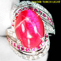"""Яркий перстень """"Алая капля """" с рубинами , размер 17 от студии LadyStyle.Biz, фото 1"""