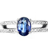 """Элегантный серебряный перстень с кианитом """"Океан"""", размер 17 от студии LadyStyle.Biz, фото 1"""