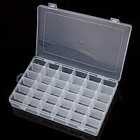 Отсеки Box прозрачного пластикового устроитель хранение Case Craft бисер Collection