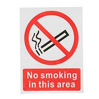 Предупреждение знак не курить В этом 20x15cm Площадь Символ Пластиковые наклейки