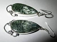 """Шикарные серебряные серьги  с натуральным серафинитом """"Слеза Ангела"""" ,  от студии LadyStyle.Biz, фото 1"""