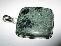 Шикарный серебряный кулон  с  крокодиловой яшмой камамба   от студии LadyStyle.Biz, фото 1