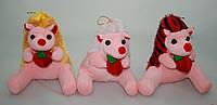 Игрушка розовый ежик (19 см)