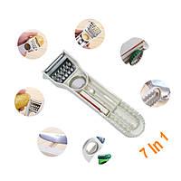 7 В 1 Многофункциональный Фрукты Овощной нож Ножевой точилка Пилер Slicer Kitchen Инструмент