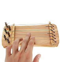 6 Струны Деревянный тренер Прозрачный Finger для Guzheng китайской цитры плеер