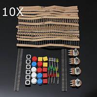 10 штук электронные компоненты Компоненты Резисторы кнопочного выключателя Комплект для Arduino