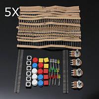 5шт электронные компоненты Компоненты Резисторы кнопочного выключателя Комплект для Arduino