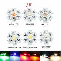 1w высокой мощности LED печатная плата лампы бисер чипы автомобиля крытый настольная лампа аквариума теплоотвод