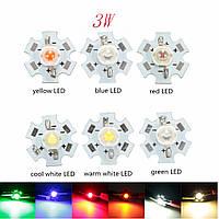 3w высокой мощности LED печатная плата лампы бисер чипы автомобиля крытый настольная лампа аквариума теплоотвод