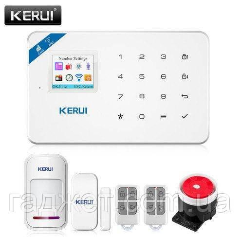 Kerui W18 черного цвета GSM Wi-Fi беспроводная сигнализация.Android/iOS русское меню