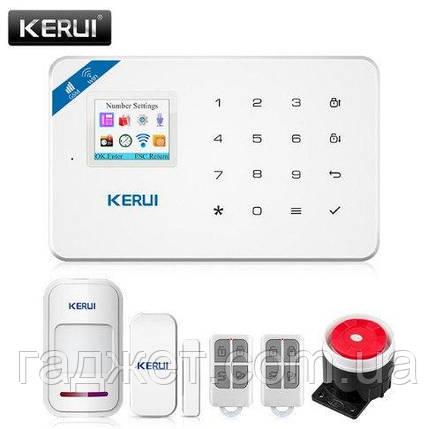 Kerui W18 черного цвета GSM Wi-Fi беспроводная сигнализация.Android/iOS русское меню, фото 2