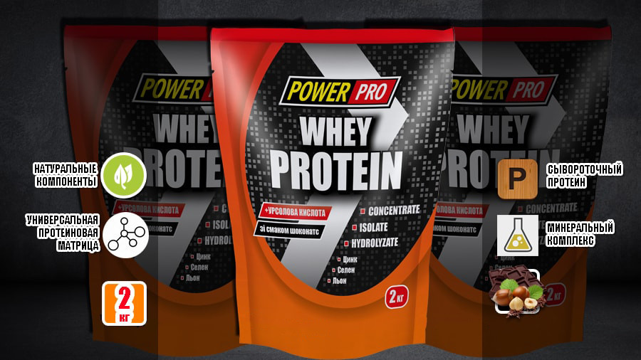 PowepPro Whey Protein (шоконатс) 2 кг