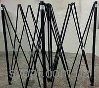 Шатер 3х4,5м +бока с 3х сторон, металл черный. Китай. Соединения металлические