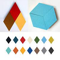 Хонана DX-173 6PCS Творческий Красочные Rhombus Wool Войлок Многофункциональный стикер стены Смарт сбор платы