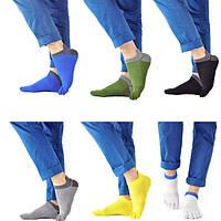 1 пара мужской хлопка носки ног пять пальцев спорта на открытом воздухе цвета работа хлопка