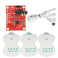 Комплект 3.3V AD8232 ЭКГ модуль измерения постоянного тока Портативный монитор сердца Биологический