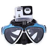 IPRee Летние стентные очки с камера Кронштейн Анти Туман Силиконовый Дайвинг Плавание для подводного плавания Очки Маска