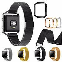 Замена Большой размер метал группы кадров 235мм браслет для FitBit Blaze Watch