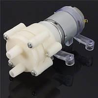 Dc6-12v r385 аквариумных рыб бак мембранный насос круглый воздушный DC вода