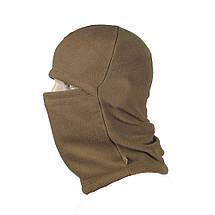 Балаклава универсальная флисовая (шапка, шарф, балаклава) в цвете койот, фото 2