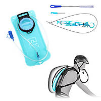 AOTU 2L велосипедов Blue Water Bag Гидратация пакет Small Форсунка Питьевой Туризм Отдых на природе Бег с 1 шт Набор для чистки