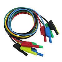 DANIU P1050 5шт 5 цветов 1M 4мм банан для банановой вилки Мягкий силиконовый кабель для тестирования кабеля для мультиметра