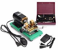Raitool ™ 110V 240W Перламутровый буровой сверлильный станок Бурильный станок Full Set Punch Набор