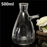 500мл 24/29 лаборатории вакуумной фильтрации стеклянная колба бутылки 10мм шланг адаптера