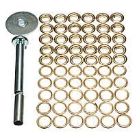 63pcs брезент пряжки кукуруза вычет холст кольцо комплект для ремонта инструмент