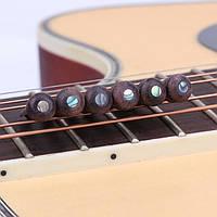 6Pcs Rosewood гитара Струнная Pins мост с Pearl Shell Dot для акустической гитары