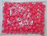 Бусы 12 мм. 250 грамм (цвет малиновый)