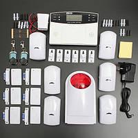 LCD Беспроводной GSM Автоматический набор для домашнего дома Офис безопасности охранной сигнализации вторжения