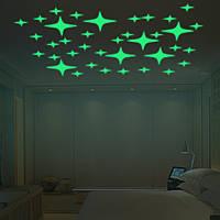 Хонана DX-168 22PCS флуоресцентные свечения мигает Звезды стикер стены Главная спальня декор