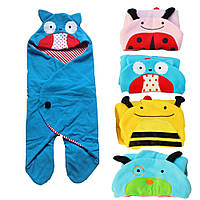 Vvcare BC-S01 мультфильм животных младенческой спальный мешок постельных принадлежностей теплый пеленать одеяло Wrap спальные мешки