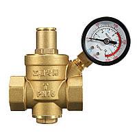 DN20 NPT 3/4 регулируемый латунный воды Регулятор давления Редуктор с манометром Meter